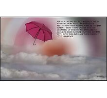 Umbrella Sunrise - TE Lawrence Card and Poster Photographic Print
