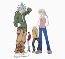 Soul Eater - Black Star, Maka, Death The Kid & Soul by OkaNieba