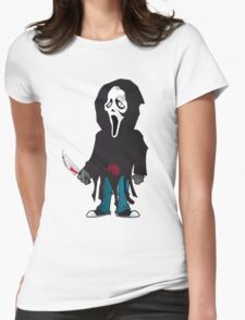 SCREAM is a PHANTOM FACE Womens Fitted T-Shirt