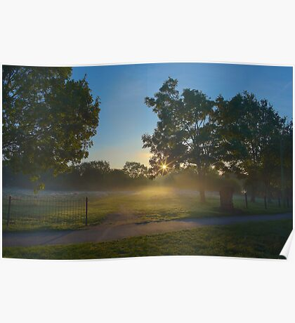 Sunrise in Harrow Lodge Park Poster