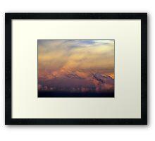 Sunset Storms Framed Print