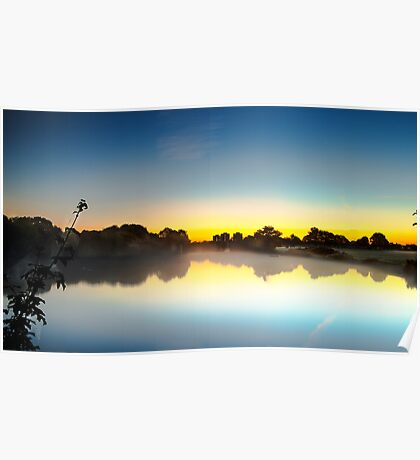 Sunrise over Harrow Lodge Park Poster