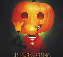 Halloween Greetings by psychopu