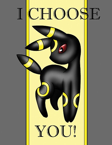 Umbreon, I choose you! by kittieshade