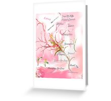 TREE OF LIFE..dedicated to breast and other cancer research Greeting Card