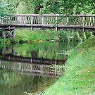 Footbridge in Ludwigslust - Germany by Arie Koene