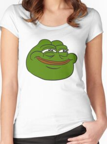 Happy Pepe the Frog Women's Fitted Scoop T-Shirt