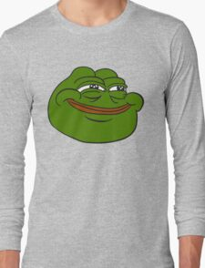 Happy Pepe the Frog Long Sleeve T-Shirt