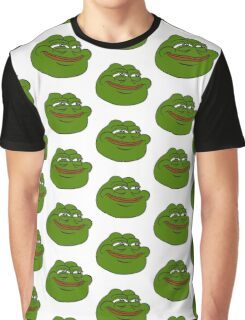 Happy Pepe the Frog Graphic T-Shirt