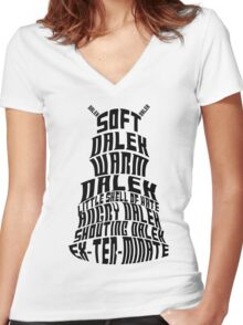 Soft Dalek, Warm Dalek Women's Fitted V-Neck T-Shirt