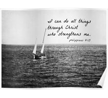 Philippians 4:13 All Things Poster