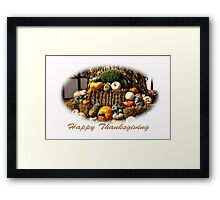 Happy Thanksgiving Framed Print