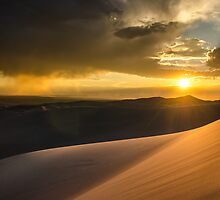 Sunset Over San Luis Valley - Great Sand Dunes National Park, Colorado by Jason Heritage