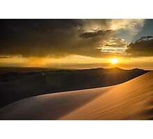 Sunset Over San Luis Valley - Great Sand Dunes National Park, Colorado Photographic Print