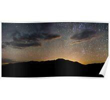 Light Pollution Over the Sangre de Cristo - Great Sand Dunes National Park, Colorado Poster