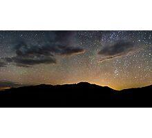 Light Pollution Over the Sangre de Cristo - Great Sand Dunes National Park, Colorado Photographic Print