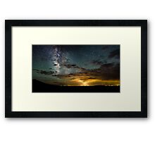 Milky Way Over the Storm - Great Sand Dunes National Park, Colorado Framed Print