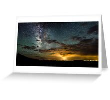 Milky Way Over the Storm - Great Sand Dunes National Park, Colorado Greeting Card