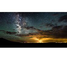 Milky Way Over the Storm - Great Sand Dunes National Park, Colorado Photographic Print