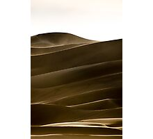 Light and Shadow - Great Sand Dunes National Park, Colorado Photographic Print