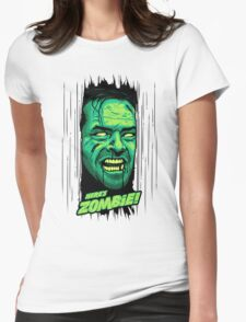 Here's Zombie! Womens Fitted T-Shirt