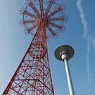 Coney Island Parachute Drop  by Russell Fry