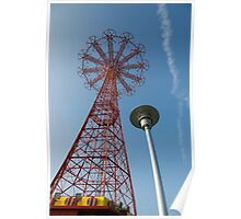 Coney Island Parachute Drop  Poster