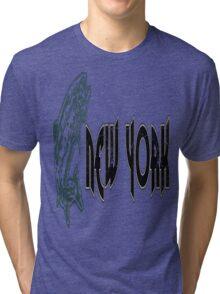 FISH NEW YORK VINTAGE LOGO Tri-blend T-Shirt