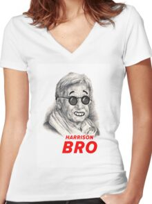 Harrison Bro Women's Fitted V-Neck T-Shirt