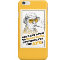 FEAR AND LOATHING IN LAS VEGAS- HUNTER S. THOMPSON iPhone Case/Skin