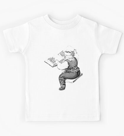 Santa is Making A List And Checking It Twice. Vintage Santa Claus For Old Fashioned Christmas. Kids Tee