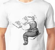 Santa is Making A List And Checking It Twice. Vintage Santa Claus For Old Fashioned Christmas. Unisex T-Shirt