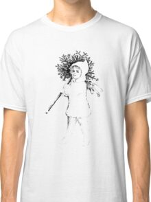 Victorian Child At Christmas Time, Carrying In The Christmas Tree. Classic T-Shirt