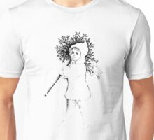 Victorian Child At Christmas Time, Carrying In The Christmas Tree. Unisex T-Shirt
