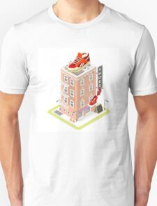 NYC Map Building Isometric T-Shirt