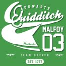 Draco Malfoy - Quidditch Shirt (Dirty Version) by soulthrow