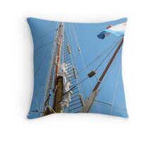 Fluffy Bags to protect rigging etc., Tall Ships Festival. Throw Pillow