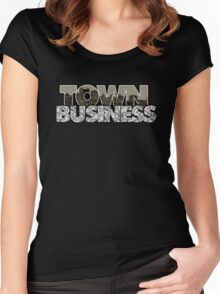 Town Business Raiders Edition Women's Fitted Scoop T-Shirt
