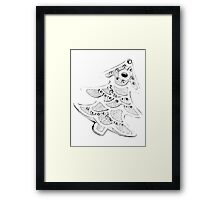 Gingerbread Tree. Christmas Cookies for a Happy Holiday Season Framed Print