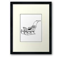 Let's Go For a Sleigh Ride! Christmas Vintage Sleigh. Framed Print