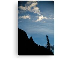 Silver Crescent Moon - Sangre de Cristo Wilderness, Colorado Canvas Print