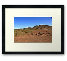 On an outback track Framed Print