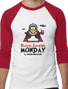 Blood Sucking Monday! - Vampire Penguin Men's Baseball ¾ T-Shirt