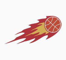 Basketball Fire Ball Logo by Style-O-Mat