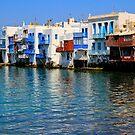Little Venice, Mykonos Town by Barbara  Brown