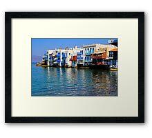 Little Venice, Mykonos Town Framed Print