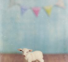 Blue Lamb and Bunting by kpedwell