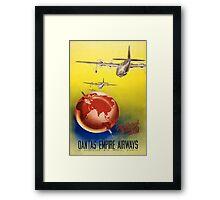 Vintage poster - Qantas Framed Print