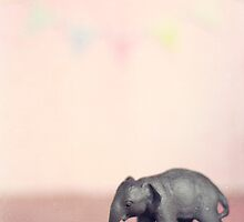 Pink Elephant and and Bunting by kpedwell