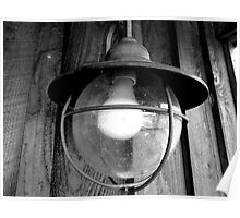 Black and White Lamp Poster